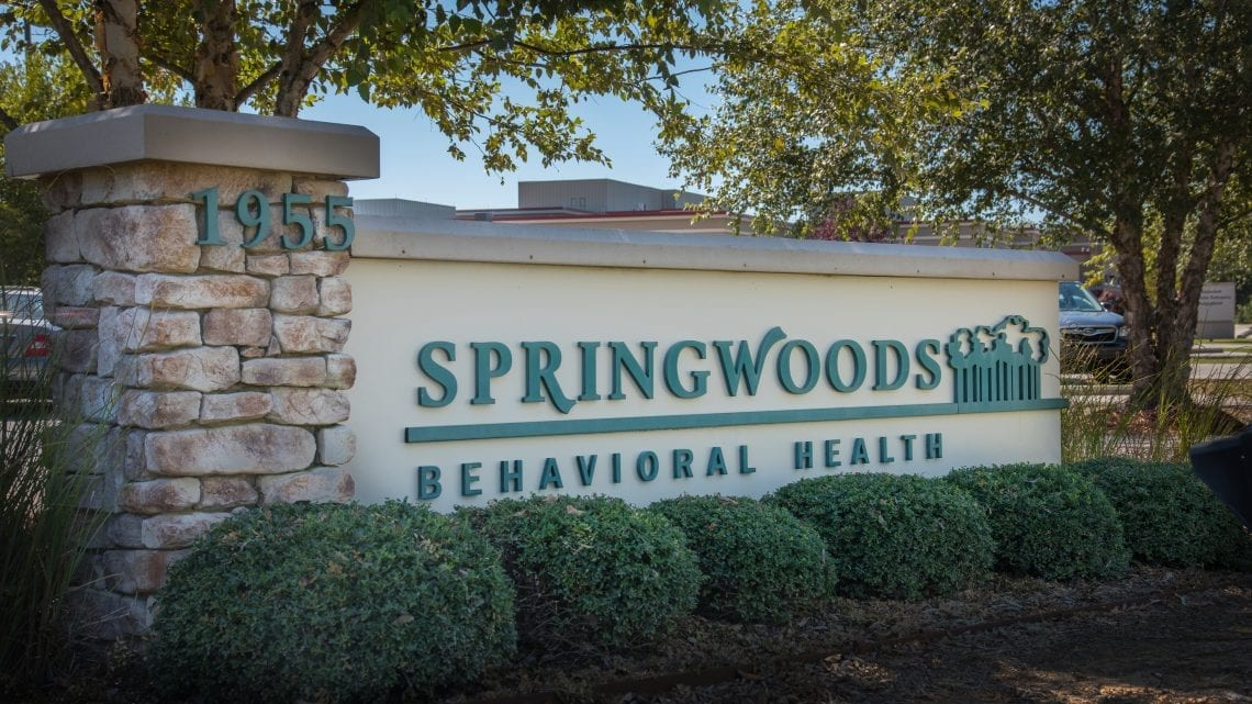 Sign Outside Springwoods Behavioral Health | SpringwoodsBehavioral.com